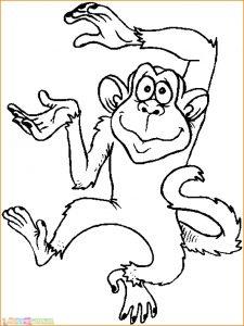 Mewarnai Gambar Monyet 04