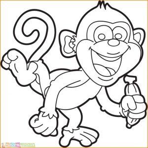 Mewarnai Gambar Monyet 09