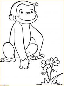 Mewarnai Gambar Monyet 11