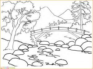 Sketsa Gambar Pemandangan Alam 06