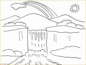 Sketsa Gambar Pemandangan Alam 11