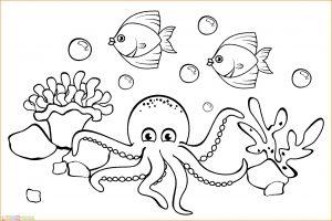 Sketsa Gambar Pemandangan Bawah Laut 07
