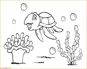 Sketsa Gambar Pemandangan Bawah Laut 09