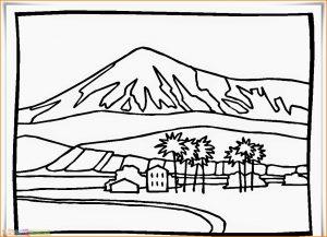 Sketsa Gambar Pemandangan Desa 01