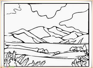 Sketsa Gambar Pemandangan Desa 11