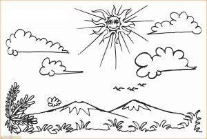 Sketsa Gambar Pemandangan Gunung 02