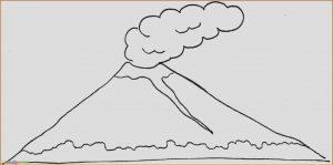 Sketsa Gambar Pemandangan Gunung 12
