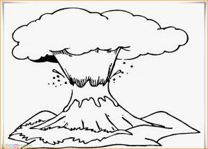 Sketsa Gambar Pemandangan Gunung 13