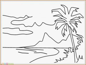 Sketsa Gambar Pemandangan Laut 04