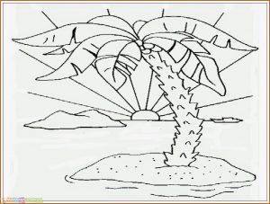 Sketsa Gambar Pemandangan Laut 06