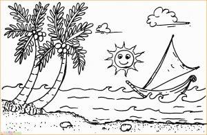 Sketsa Gambar Pemandangan Laut 07