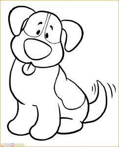 Sketsa Hewan Lucu Anjing