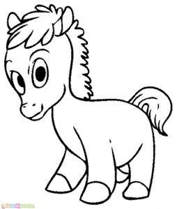 Sketsa Hewan Lucu Kuda Terbaru