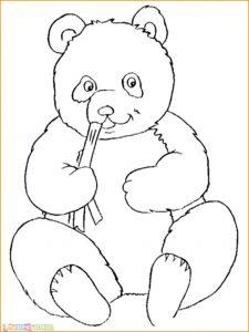 Sketsa Hewan Panda Imut