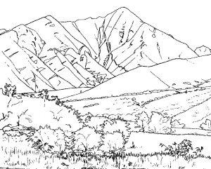 gambar gunung anak SD