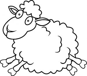 gambar mewarnai domba anak