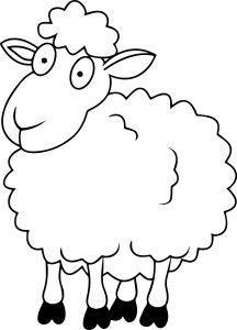 gambar mewarnai domba anak sd
