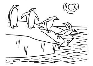 gambar mewarnai pinguin 7