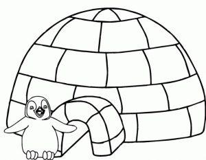 gambar mewarnai rumah pinguin