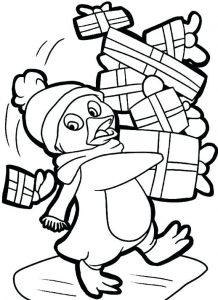 gambar penguin kartun
