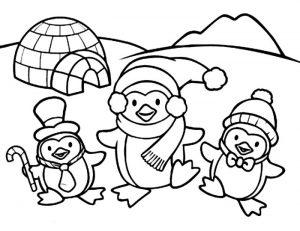 gambar penguin kartun lucu
