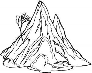 mewarnai gunung untuk anak