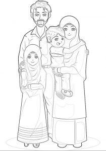 gambar mewarnai keluarga 2