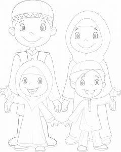 gambar mewarnai keluarga 3