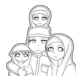 gambar mewarnai keluarga 5