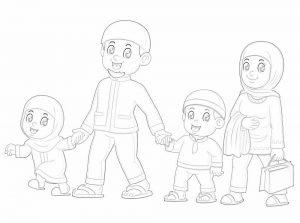 gambar mewarnai keluarga 6