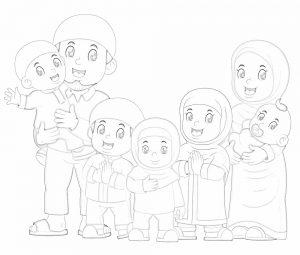 gambar mewarnai keluarga 8