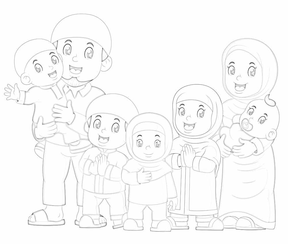 √ Gambar Mewarnai Keluarga Lengkap Dengan Contoh Warnanya