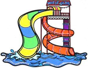 contoh gambar waterpark untuk diwarnai