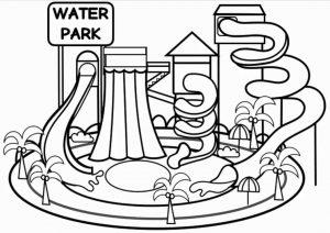 contoh mewarnai gambar waterboom