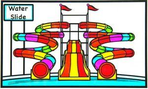 gambar mewarnai water park warna