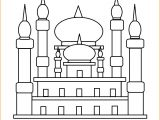 Gambar Mewarnai Masjid Nabawi 06 Marimewarnai