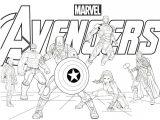 Gambar Mewarnai Superhero Avengers